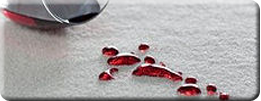 wine spill on SmartStrand carpet